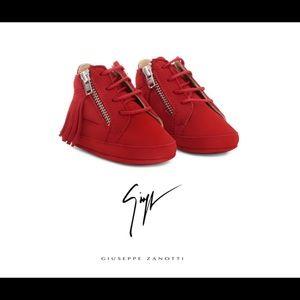 giuseppe zanotti • NEW • fringe sneakers